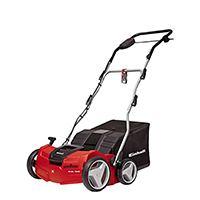 2-in1 Kombigerät mit kraftvollem Reihenschlussmotor mit 1.600 Watt und zentrale 4-fache Arbeitstiefeneinstellung bis 12 mm für die fachgerechte Rasenpflege.