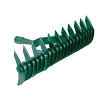 Doppelseitige Ausführung; mit 21 langen und 11 kurzen Zinken; sehr robuste Ausführung mit großer Stieltülle.