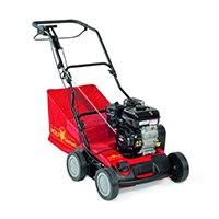 Für Rasenfläche: bis 1000 m2 Schnittbreite: 40 cm Motor/Leistung/ Zylinder: B&S 550 Series, 4-Takt-Motor, 127 cm3, .,4 kW, 3.600 min -1 Chassis: Stahl Kugellager: Ja Gewicht: 38 kg Höheneinstellung: Zentral stufenlos
