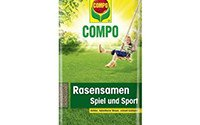 COMPO Rasensamen Spiel und Sport, schnell keimende strapazierfähige Saatmischung, 10 kg für 500 m²