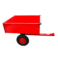 Transportieren leicht gemacht - mit dem DEMA Anhänger für ATV-Quad / Rasentraktor kippbar!