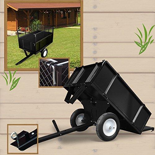 anhaenger fuer aufsitzmaeher rasentraktor kippbar 300 kg einzatz rasenmaeher im. Black Bedroom Furniture Sets. Home Design Ideas