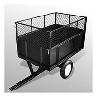 Anhänger für Rasentraktoren / Aufsitzmäher; maximale Kapazität 300 kg.