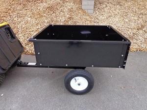 Hänger Anhänger für Rasentraktor Kipper 225 kg Nutzlast