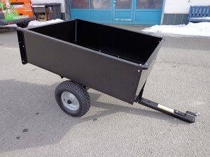 Hänger Anhänger für Rasentraktor Kipper 500 Kilo NEU